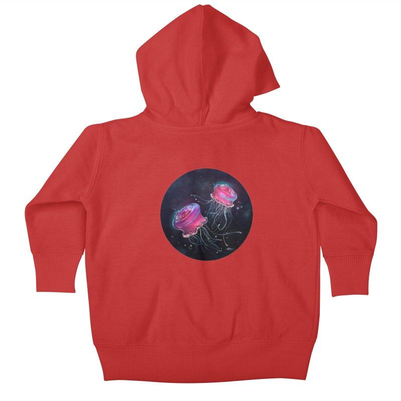 Medusa Kids Baby Zip-Up Hoody by riamizuko's Artist Shop