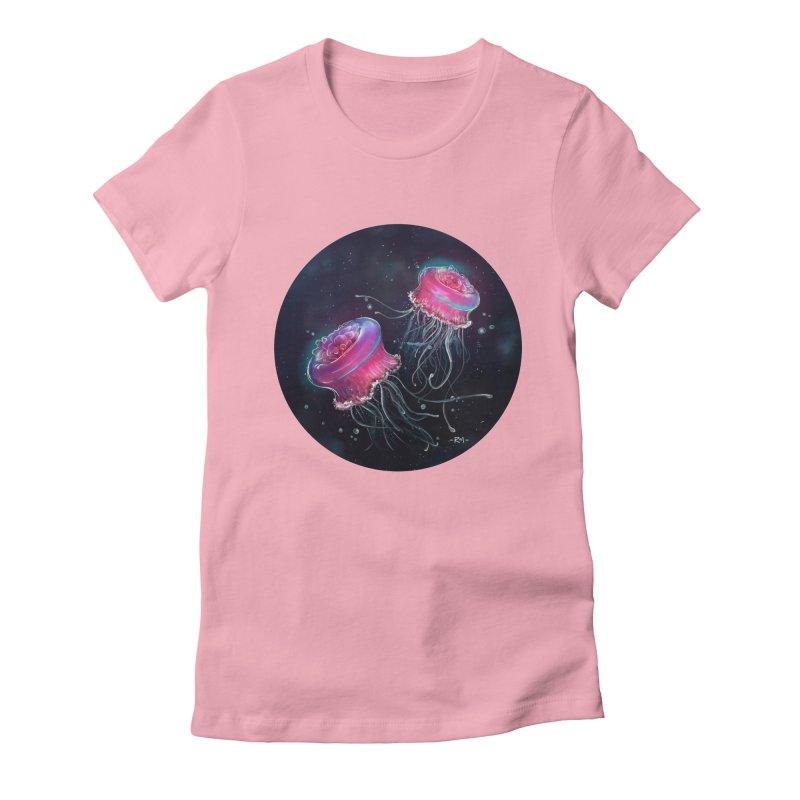 Medusa Women's Fitted T-Shirt by riamizuko's Artist Shop