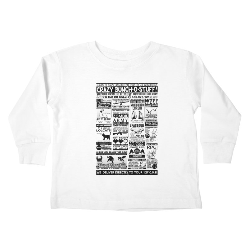 When Geekness Goes Retro Kids Toddler Longsleeve T-Shirt by Riccardo Bucchioni's Shop