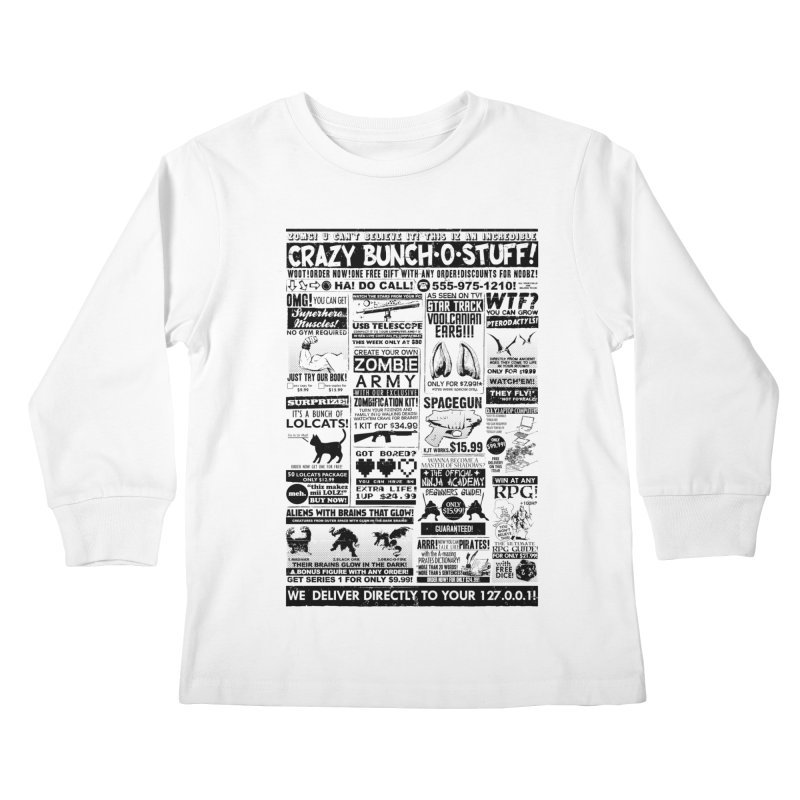 When Geekness Goes Retro Kids Longsleeve T-Shirt by Riccardo Bucchioni's Shop