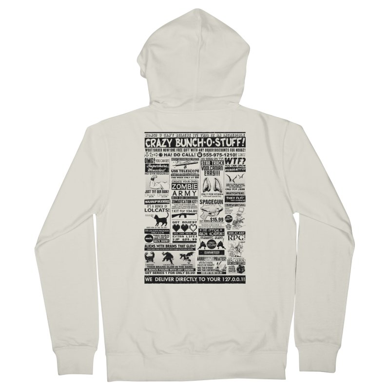 When Geekness Goes Retro Men's Zip-Up Hoody by Riccardo Bucchioni's Shop