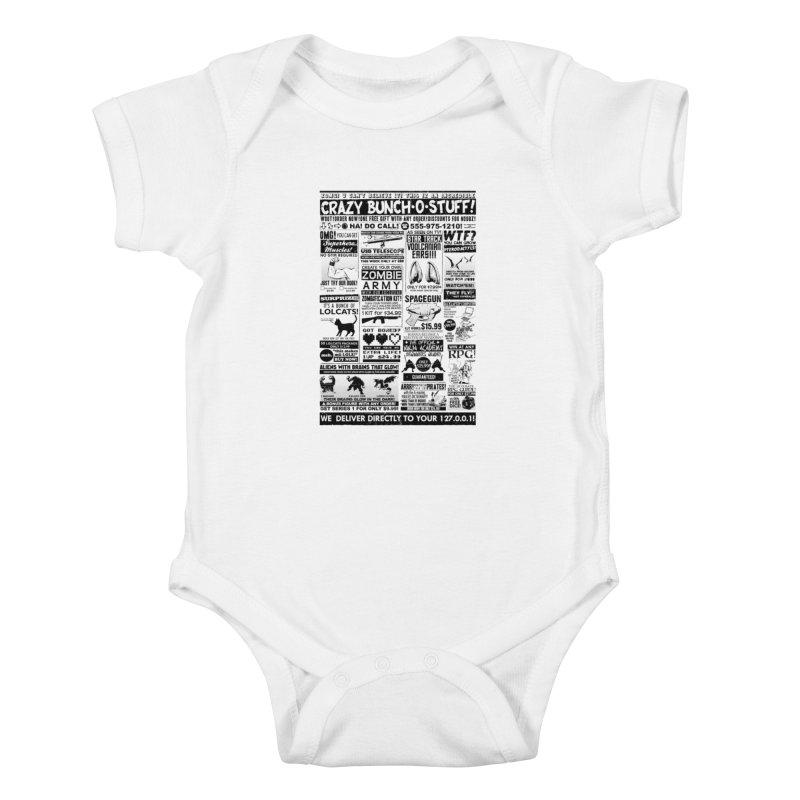 When Geekness Goes Retro Kids Baby Bodysuit by Riccardo Bucchioni's Shop