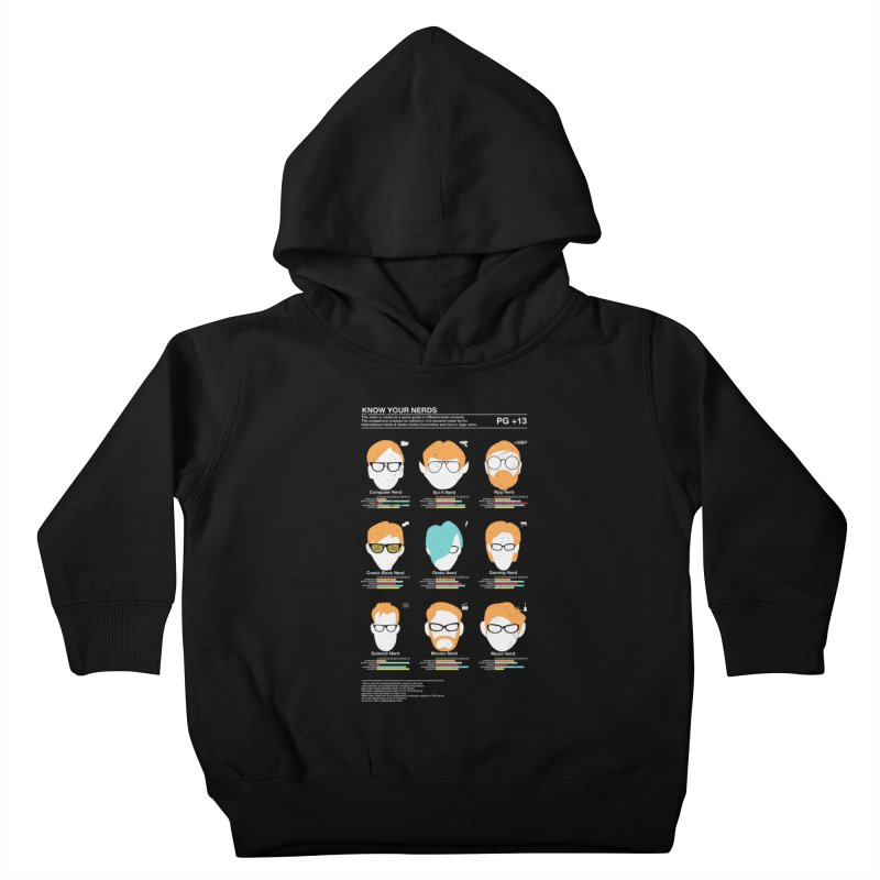 Know Your Nerds Kids Toddler Pullover Hoody by Riccardo Bucchioni's Shop