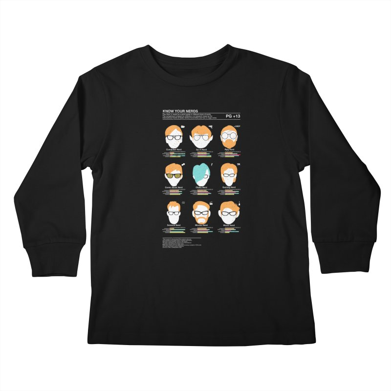 Know Your Nerds Kids Longsleeve T-Shirt by Riccardo Bucchioni's Shop