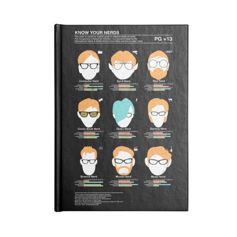 Know Your Nerds Accessories Blank Journal Notebook by Riccardo Bucchioni's Shop