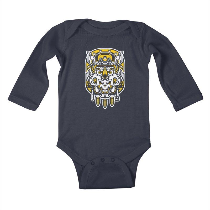 Goldy Rocksteady Kids Baby Longsleeve Bodysuit by ricechuchu's Artist Shop