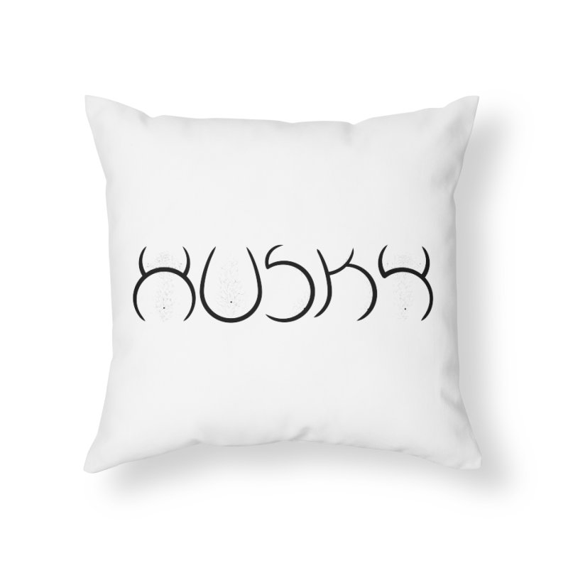 HUSKY Home Throw Pillow by Richard Favaloro's Shop