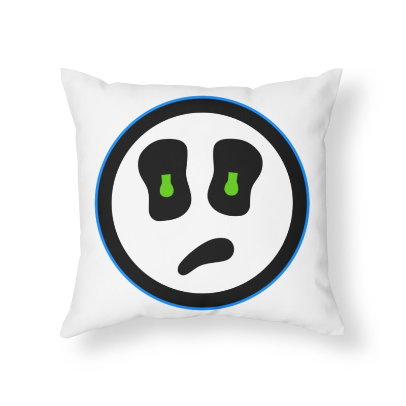 Mega Face Home Throw Pillow by Richard Favaloro's Shop