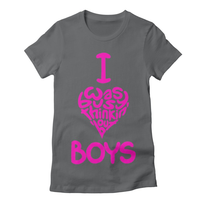 I <3 Boys Women's Fitted T-Shirt by Richard Favaloro's Shop