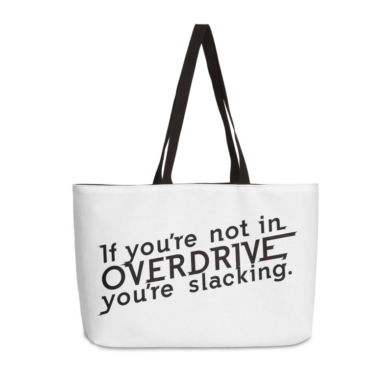 Overdrive Accessories Weekender Bag Bag by Richard Favaloro's Shop