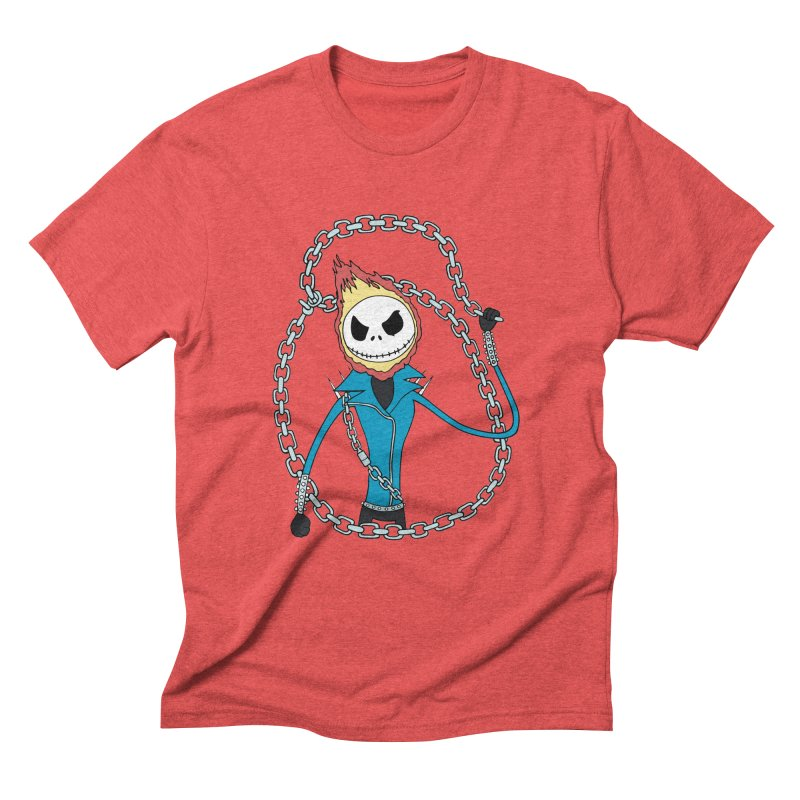 jack skellington rider Men's Triblend T-shirt by richardtpotter's Artist Shop