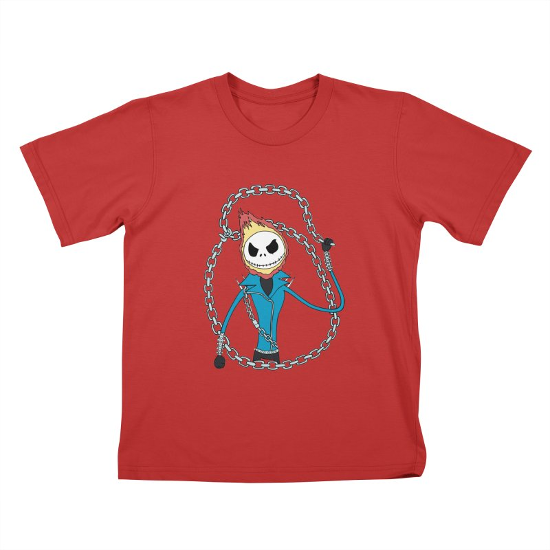 jack skellington rider Kids T-Shirt by richardtpotter's Artist Shop