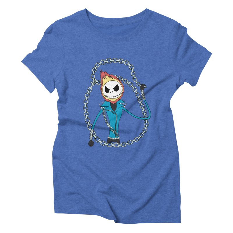 jack skellington rider Women's Triblend T-shirt by richardtpotter's Artist Shop