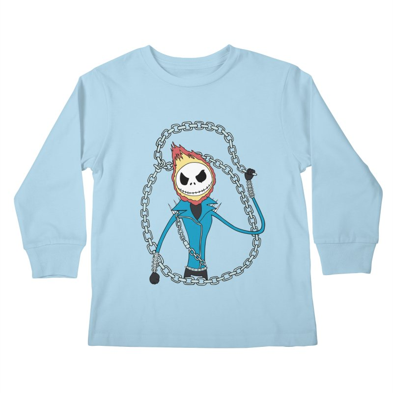 jack skellington rider Kids Longsleeve T-Shirt by richardtpotter's Artist Shop