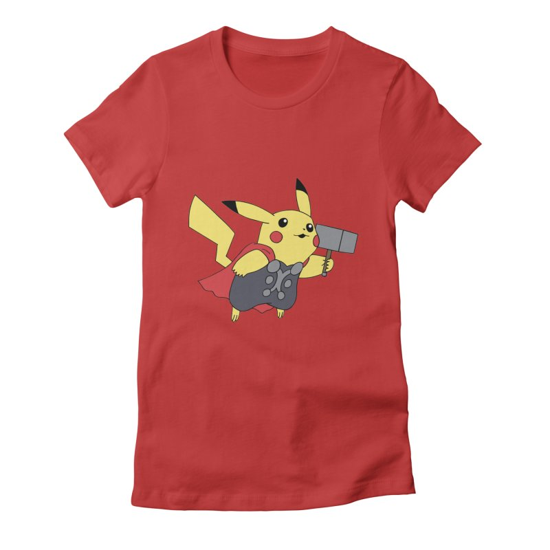 Pikathor Women's Fitted T-Shirt by richardtpotter's Artist Shop