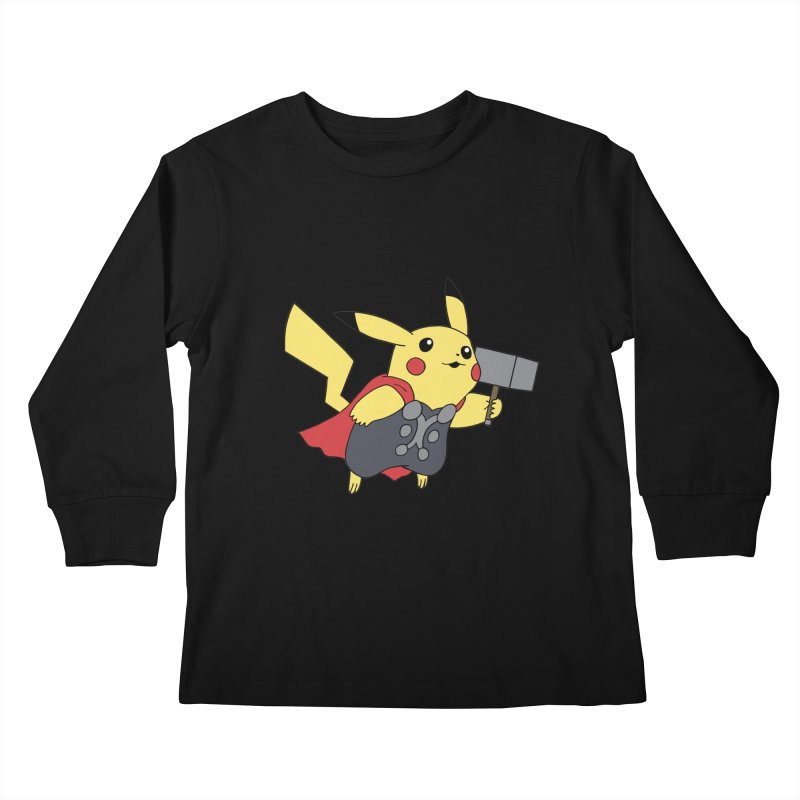 Pikathor Kids Longsleeve T-Shirt by richardtpotter's Artist Shop
