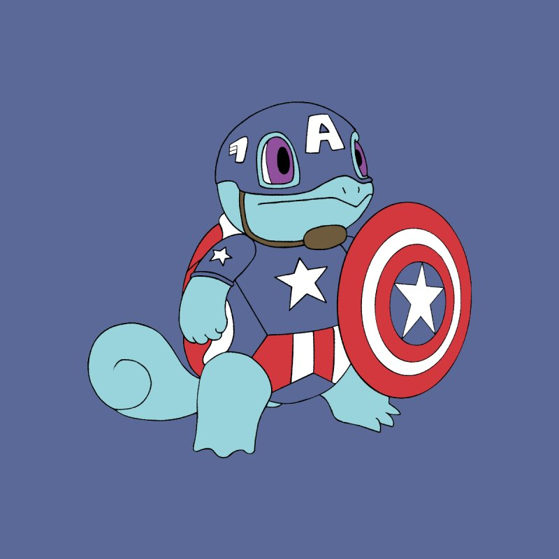 captain squirtle None  by richardtpotter's Artist Shop