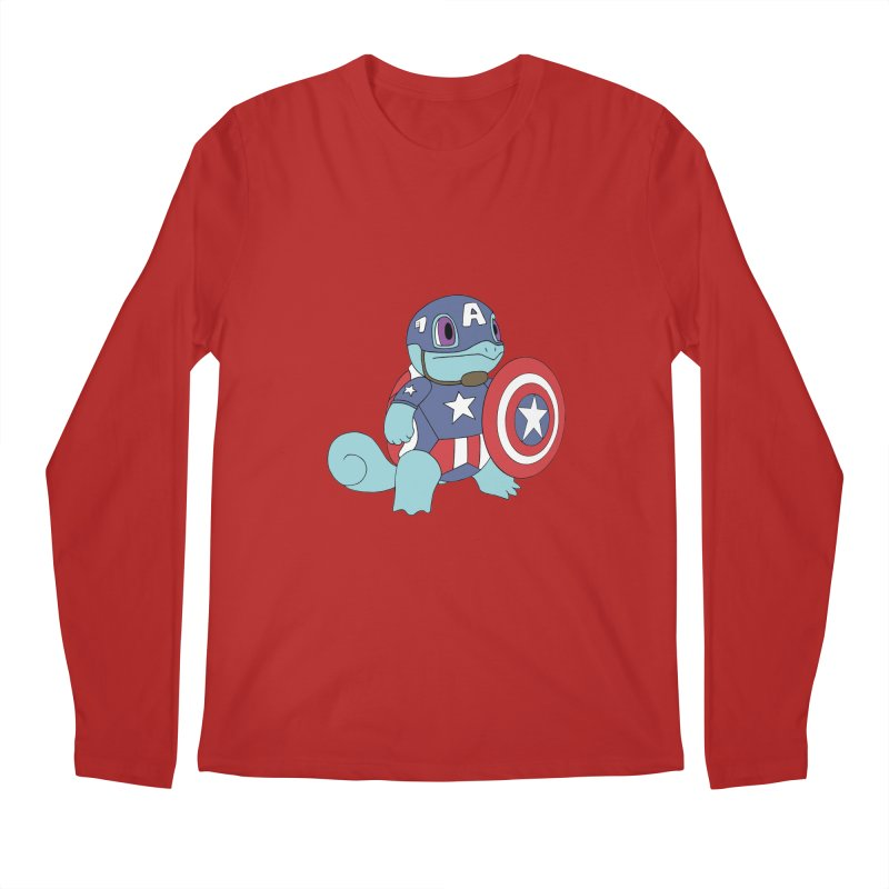 captain squirtle Men's Longsleeve T-Shirt by richardtpotter's Artist Shop
