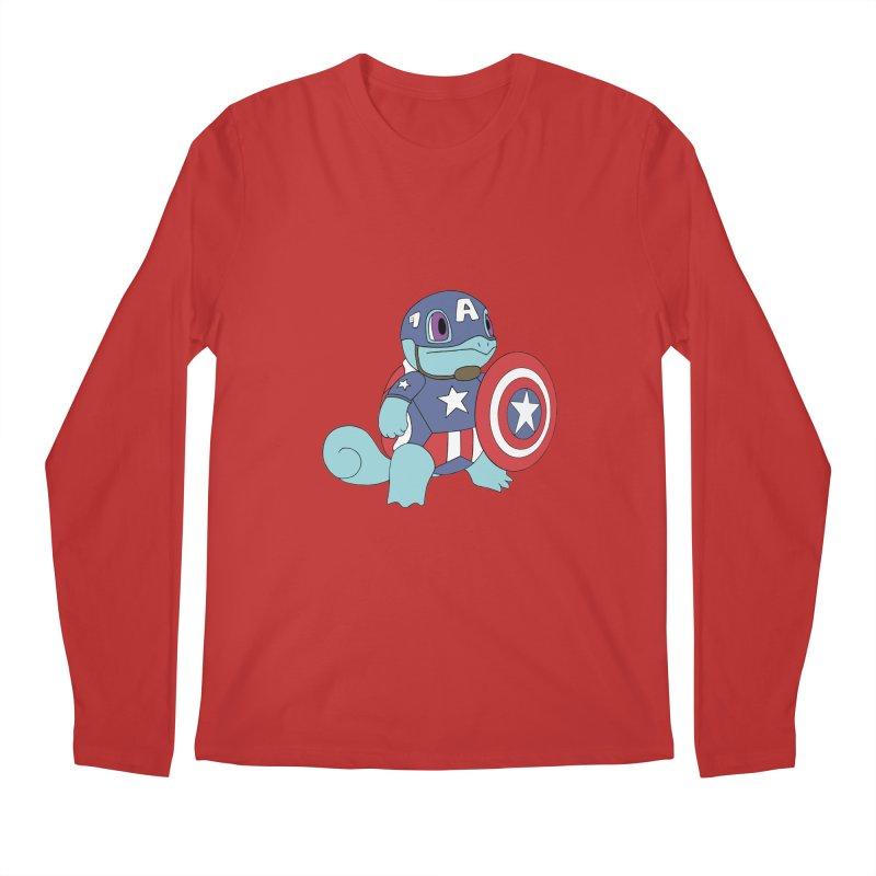 captain squirtle Men's Longsleeve T-Shirt by richardtpotter's Artist Shop