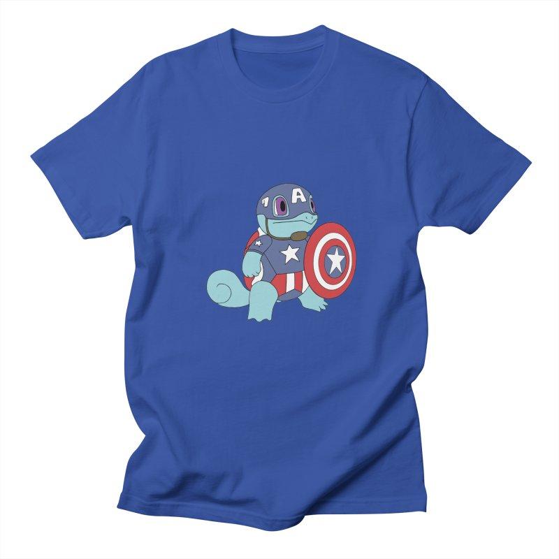 captain squirtle Men's T-shirt by richardtpotter's Artist Shop