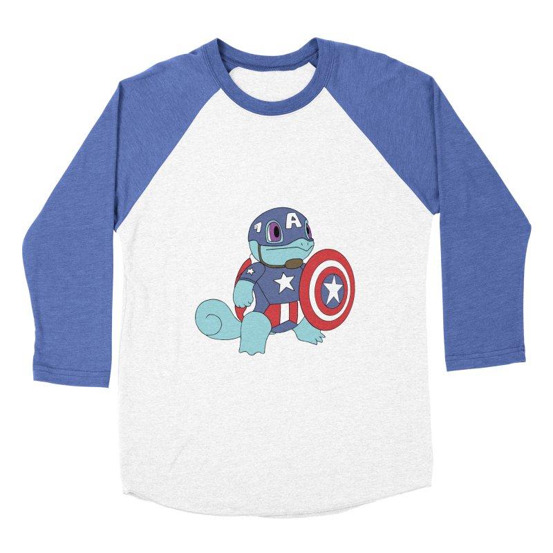 captain squirtle Men's Baseball Triblend T-Shirt by richardtpotter's Artist Shop