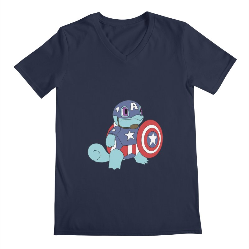 captain squirtle Men's V-Neck by richardtpotter's Artist Shop