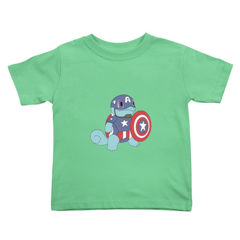 captain squirtle Kids Toddler T-Shirt by richardtpotter's Artist Shop