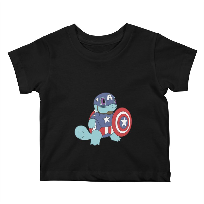 captain squirtle Kids Baby T-Shirt by richardtpotter's Artist Shop