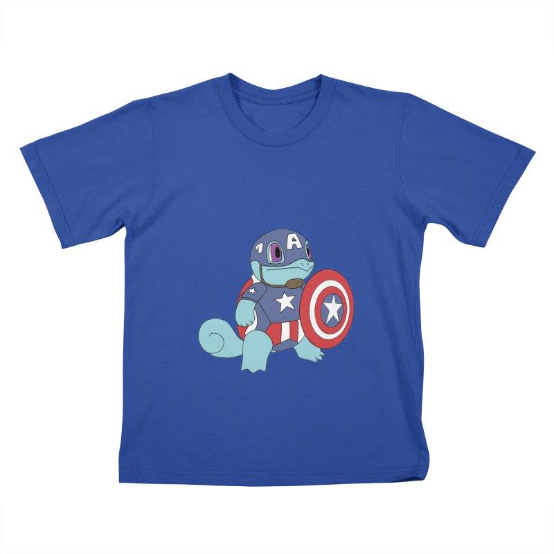 captain squirtle Kids T-Shirt by richardtpotter's Artist Shop
