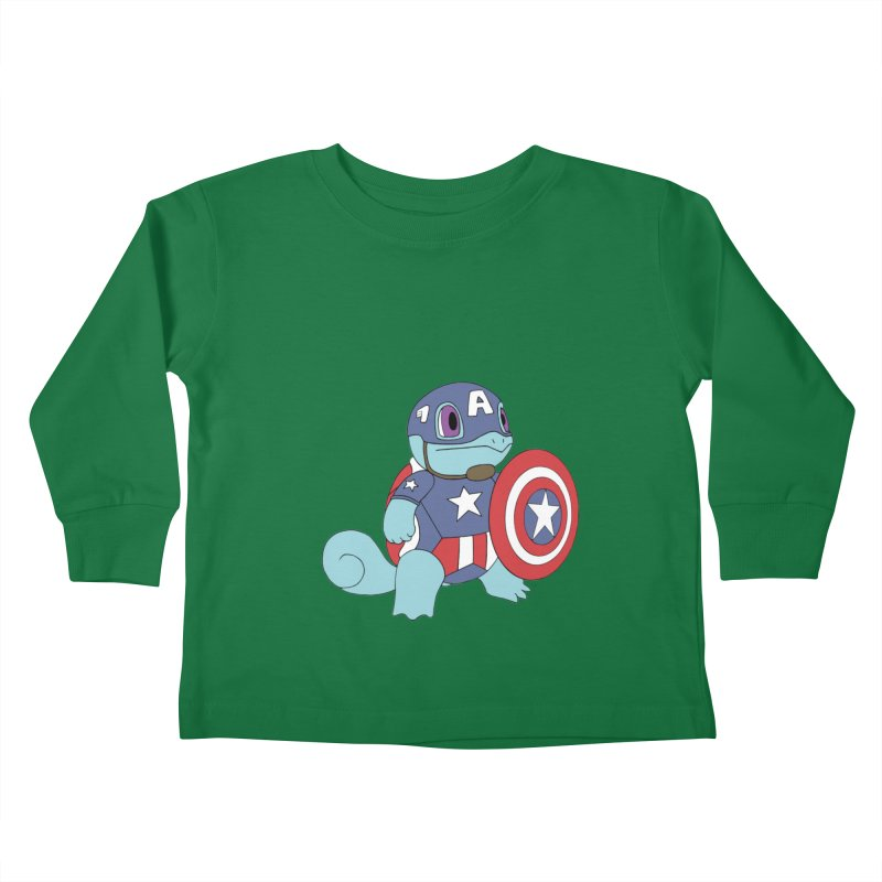 captain squirtle Kids Toddler Longsleeve T-Shirt by richardtpotter's Artist Shop