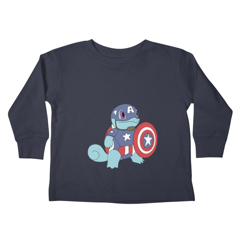 captain squirtle Kids Toddler Longsleeve T-Shirt by richardtpotter's Artist Shop