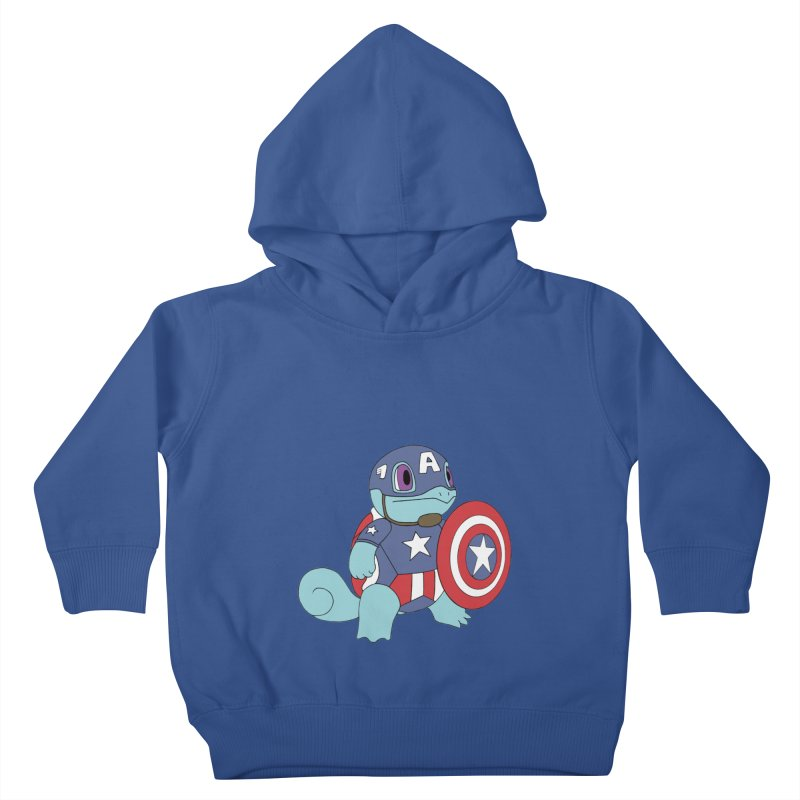 captain squirtle Kids Toddler Pullover Hoody by richardtpotter's Artist Shop
