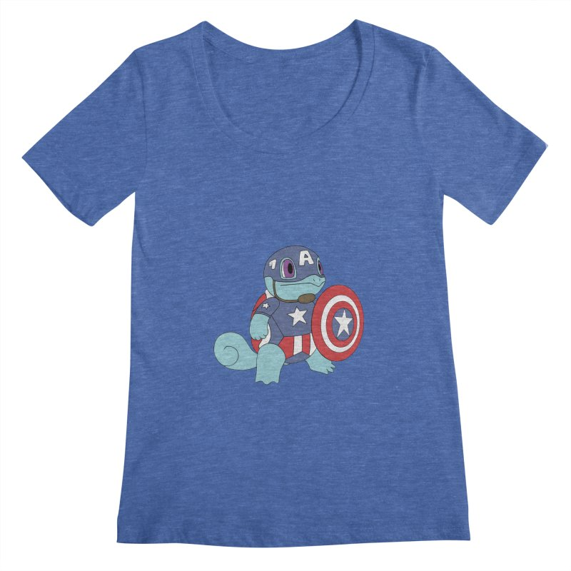 captain squirtle Women's Scoopneck by richardtpotter's Artist Shop