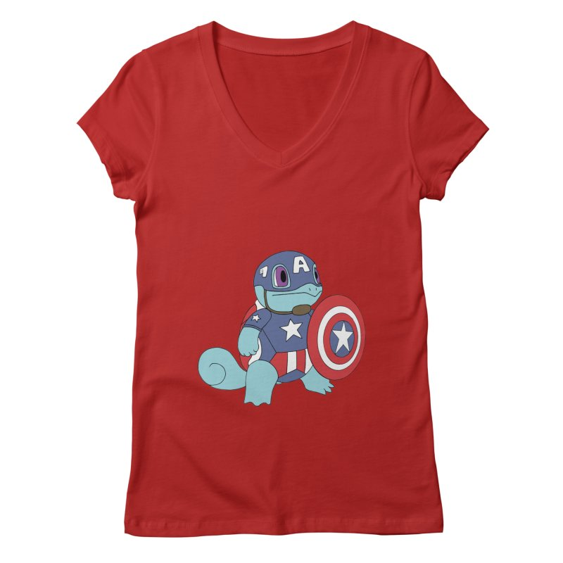 captain squirtle Women's V-Neck by richardtpotter's Artist Shop