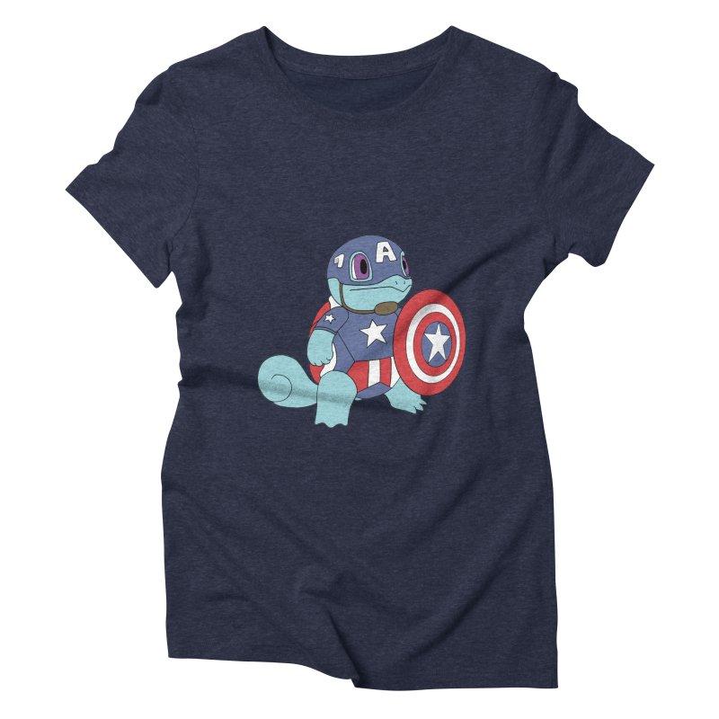captain squirtle Women's Triblend T-shirt by richardtpotter's Artist Shop