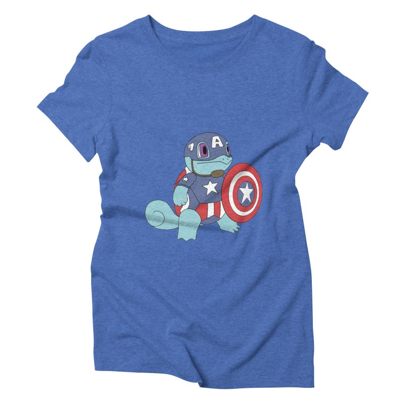 captain squirtle Women's Triblend T-shirt by richardtpotter's Artist Shop