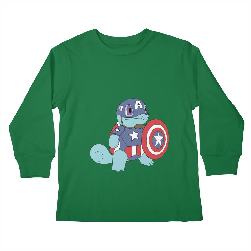 captain squirtle Kids Longsleeve T-Shirt by richardtpotter's Artist Shop