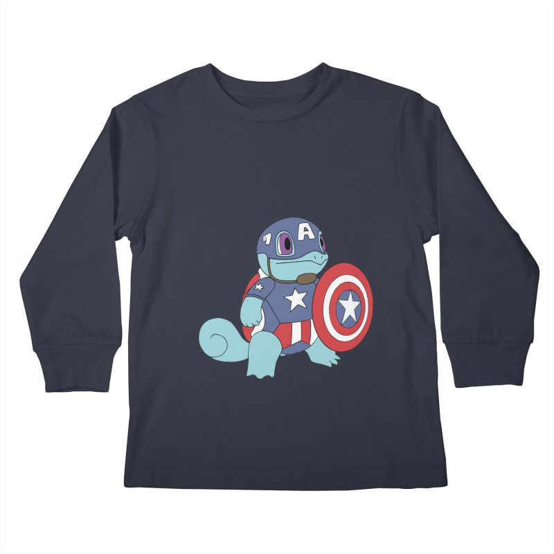 captain squirtle Kids Longsleeve T-Shirt by richardtpotter's Artist Shop