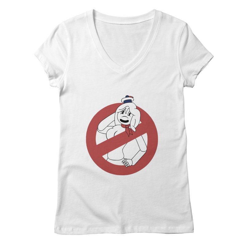 ms. stay pufft Women's V-Neck by richardtpotter's Artist Shop