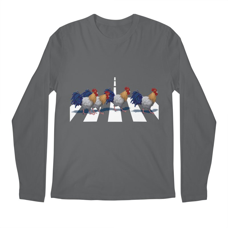 Road Roosters Men's Longsleeve T-Shirt by richgrote's Shop