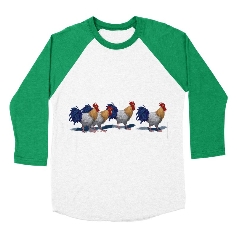 Road Roosters Men's Baseball Triblend Longsleeve T-Shirt by richgrote's Shop