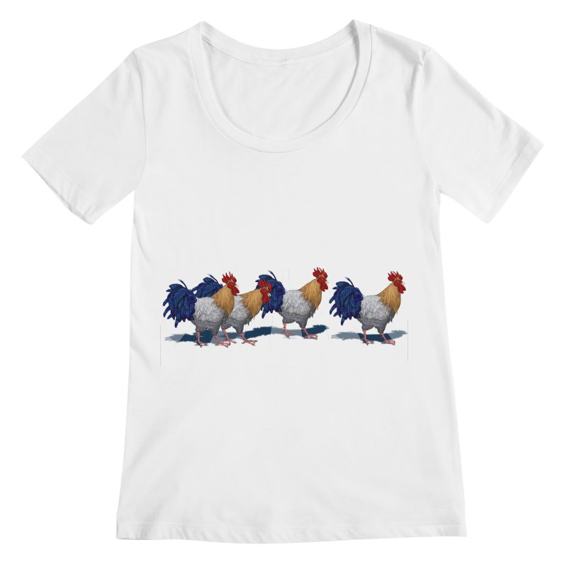 Road Roosters Women's Scoopneck by richgrote's Shop