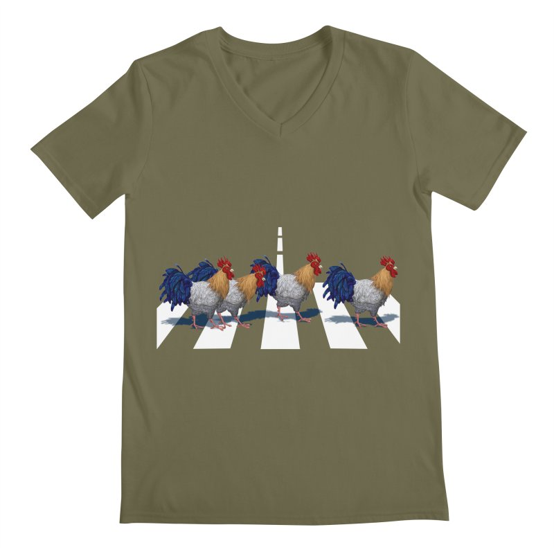 Road Roosters Men's Regular V-Neck by richgrote's Shop