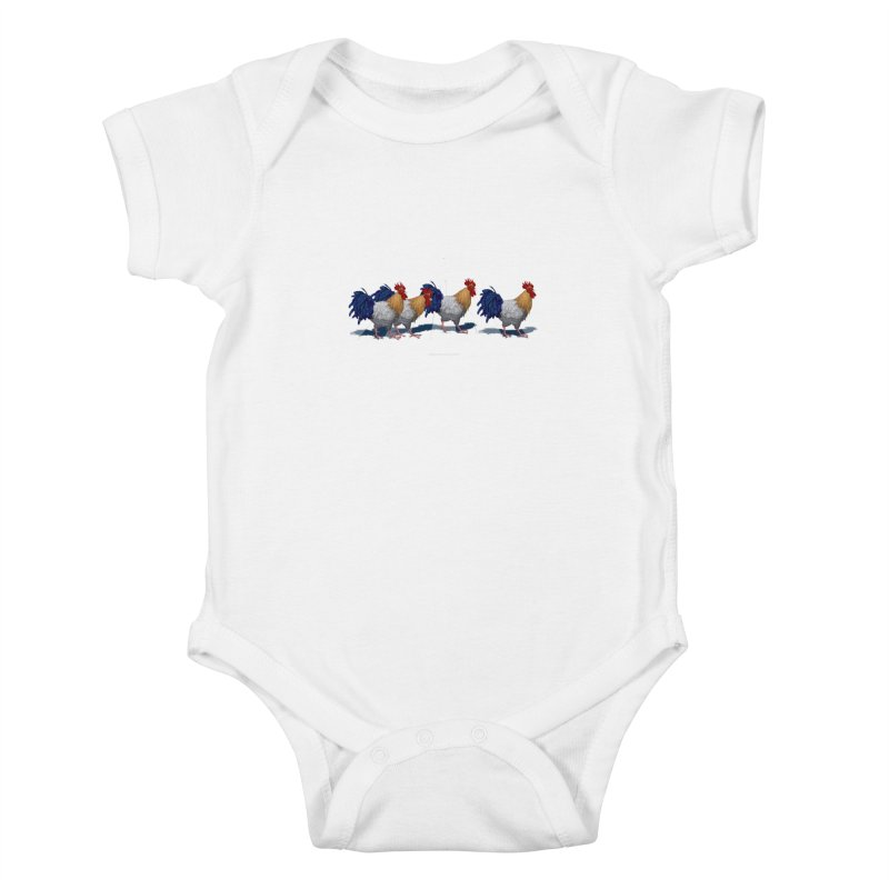 Road Roosters Kids Baby Bodysuit by richgrote's Shop