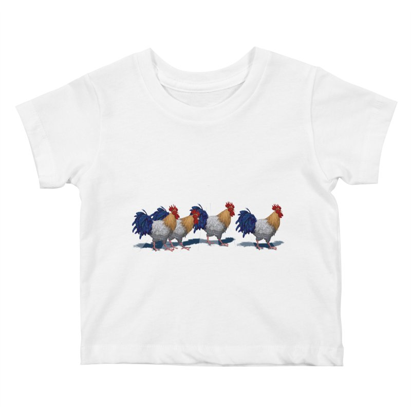 Road Roosters Kids Baby T-Shirt by richgrote's Shop