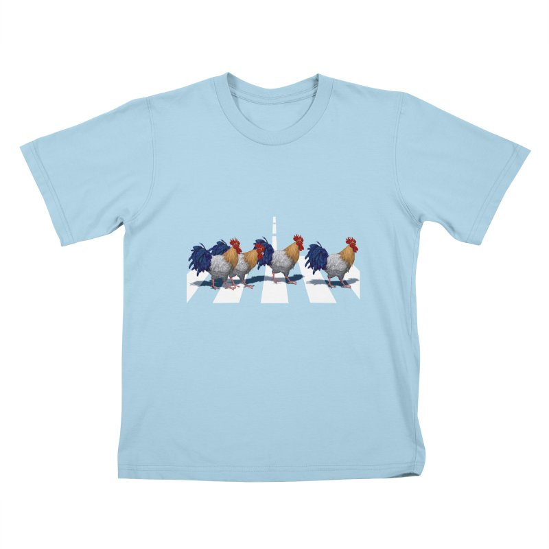 Road Roosters Kids T-Shirt by richgrote's Shop