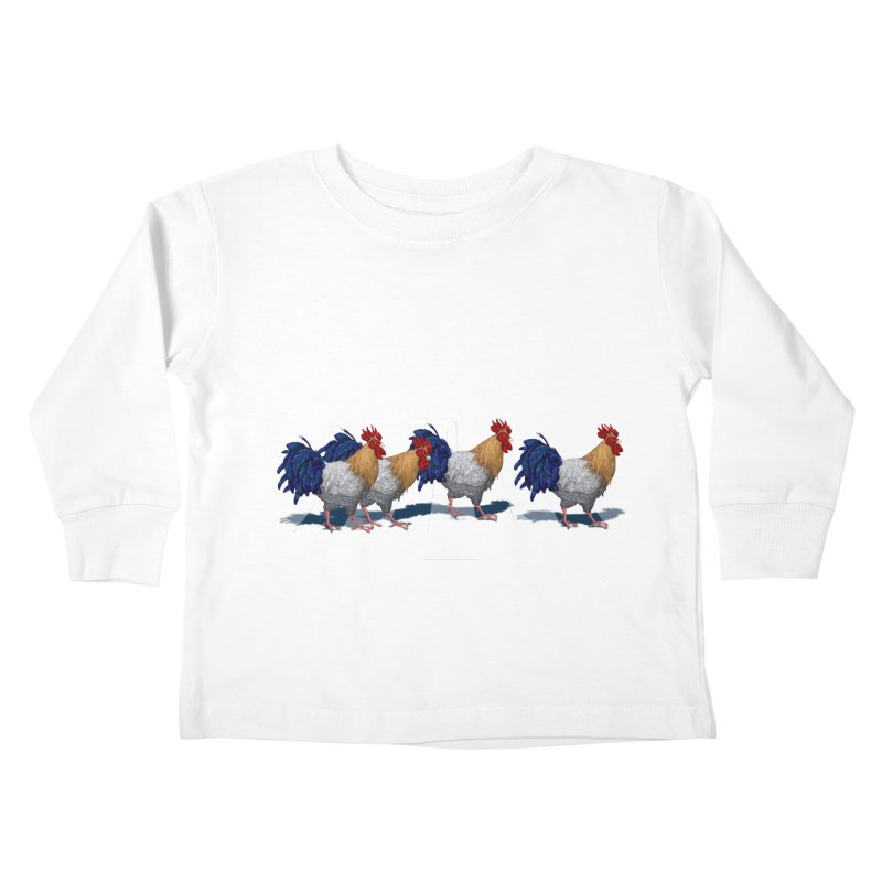 Road Roosters Kids Toddler Longsleeve T-Shirt by richgrote's Shop