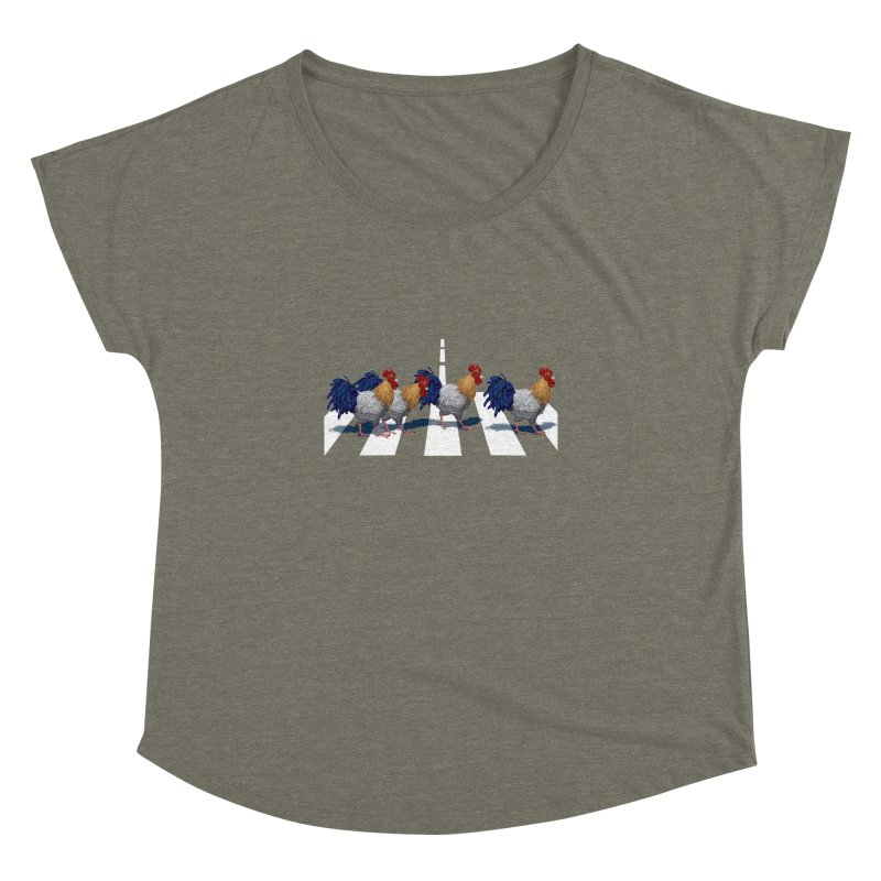Road Roosters Women's Dolman Scoop Neck by richgrote's Shop