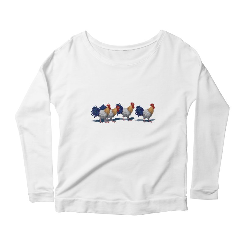 Road Roosters Women's Longsleeve Scoopneck  by richgrote's Shop