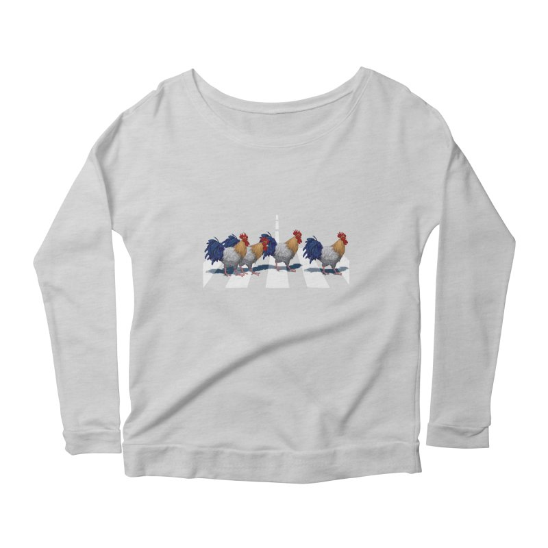Road Roosters Women's Scoop Neck Longsleeve T-Shirt by richgrote's Shop